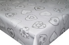 Love Hearts Grey PVC Tablecloth Vinyl Oilcloth Kitchen Dining Table
