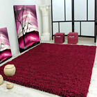 Small Large Size Thick Plain PLUM/AUBERGINE Soft Shaggy Rugs Flooring Bedroom