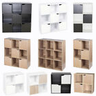 4 6 9 Cube Wooden Bookcase Square Shelving Display Shelves Storage Unit and Door