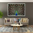 3D Peacock Feather 999 Poster Picture Home Decor Framed Painting Unique Wall Art