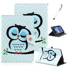 """US For 7"""" -10.1"""" Tablets PC Sleep Owl Pattern Universal Printed PU Leather Case"""