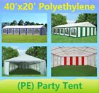 40'x20' PE Party Tent Color Tents - Heavy Duty Carport Canopy Wedding Shelter