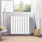 White Anthracite Bathroom Heating Panel Rad Vertical Designer Radiator Oval Flat