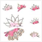 1Pc Baby Girl Kids Crystal Rhinestone Princess Bowknot Crown Hair Clip Headband