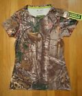 NWT UNDER ARMOUR EVO CAMO HUNTING SHIRT FITTED REALTREE AP XTRA WOMENS MEDIUM
