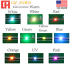 0402 0603 0805 1206 DC 9-12V Pre Wired Micro SMD LED Diode White Red Blue Light