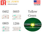 0402 0603 0805 1206 DC 9-12V Pre Wired Micro SMD LED Diode White Red Blue Light <br/> Soldered 20CM Line Blue Green UV Yellow RGB