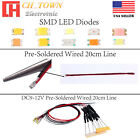 Kyпить 0402 0603 0805 1206 DC 9-12V Pre Wired Micro SMD LED Diode White Red Blue Light на еВаy.соm