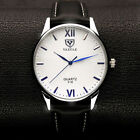 Men Fashion YAZOLE Luminous Display Leather Band Analog Quartz Wrist Watch Y318 image