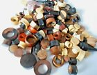 LOT x 25 ORGANIC WOOD & ASSORTED SIZES OF TUNNELS & S/STEEL & ANODISED TITANIUM