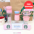 Starbucks KOREA 2018 Zia Pink & Blue Victorvile Pink Letter Fiona Waterbottle
