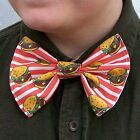Cheeseburger Bow Tie Cheezeburger Diner Food bowtie Boys Men Dads Prom Tux