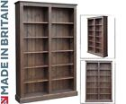 Solid Pine Bookcase, 6ft x 4ft Adjustable Display Bookshelves. Fully Assembled