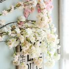 Artificial Cherry Blossom Flower Rattan Hanging Garland Wedding Home Party Decor