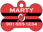 New Jersey Devils Custom Pet Id Dog Tag Personalized w/ Name & Number $11.67 USD on eBay