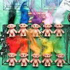 KITSCH CUTE KAWAII RETRO TOY 80S 90S MINI LUCKY TROLL DOLL NECKLACE PENDANT