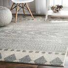 nuLOOM Modern Southwestern Tribal Band Area Rug in Ivory and Grey