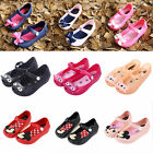 Kids Girls Cartoon Cat Mickey Minnie Bow Sandals Summer Casual Soft Jelly Shoes