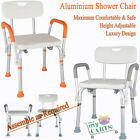 Free Post Adjustable Medical Shower Chair Bathtub Bench Bath Seat Aid Stool