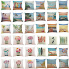 Simple Pillow Case Cotton Linen Summer Throw Sofa Cushion Cover Home Sofa Decor
