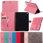 For Apple iPad 9.7 2018 6th Gen Hybrid Bumper Protector Leather Wallet Flip Case