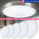 5 36W LED Round Modern Ceiling Light Home Bedroom Kitchen Mount Fixture Lamp