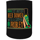 Stubby Holder - Just Another Drinker Camping Problem - Funny Novelty Christmas