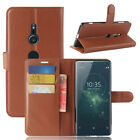 Case PU Leather Flip Stand Slots Wallet Cover Pouch For Sony Xperia Phones 38