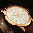 Men Luxury Stainless Steel Business Quartz Watch Leather Wrist Watches Y358 image