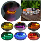 USB LED Light Flashing Glow Luminous Adjustable Pet Dog Safety Collar Night BD