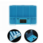 pill boxes with alarms - Alarm Pill Cases Square With LED Lights Container Medicine Box Storage Case