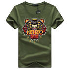 KENZO Mens Sportstyle Logo Charged Cotton Gym Training T Shirt Tee Top
