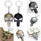 "PUNISHER SKULL 2-1/2"" x 1-1/2"" One-sided Metal Key Ring - Choose Style"