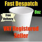 Dart 8oz Polystyrene Disposable Foam Cups Hot/Cold Drinks (100 to 2000 cups)