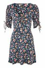 Topshop Ditsy Lace Up Sleeve Tea Summer Dress New Size 6 8 10 12 14 16
