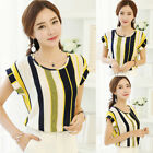 Women Ladies Casual Summer Short Sleeve Shirt Office Blouses Hot Shirt Tops RT