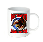 Coffee Cup Mug Travel 11 15 oz Patriotic Don't Mess With America American Eagle