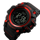 Men LED Sport Military Altimeter Barometer Thermometer Compass Pedometer Watch