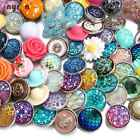 Mixed Style 18mm Snap Button Cute Snap Charms For 20mm Bracelet Snap Jewelry