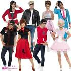 50s Costume Adult Mens & Womens Ladies 1950s Fancy Dress Costumes Outfit