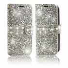 Case For Samsung Galaxy S7 Edge Flip Case Bling Shiny Cover Wallet Folio Silver