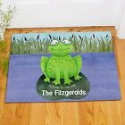 Personalized Welcome To Our Pad Doormat Family Name Frog Welcome Doormat 2 sizes
