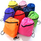 Kids Quality Girls Boys Drawstring Bag Schoolbag Backpack PE Gym Sports Swim Bag