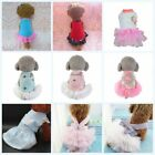 Small Pet Dog Tutu Dress Princess Puppy Bow Sequin Skirt Party Clothes Outfits