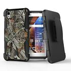 For LG Tribute HD,X Style,Volt 3 Hybrid Armor Clip Rugged Case CAMO Flag