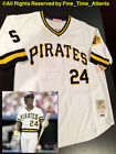 Barry Bonds 1990 1996 Pittsburgh Pirates Mens Cooperstown Throwback Jersey