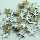 "Pkg of 25 HOTFIX STAR 3/8"" (10mm) Glue-back Studs Crafts Silver or Golden"