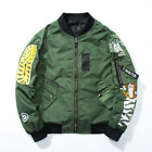 bape baseball jacket - BAPE A Bathing Ape Shark Head Bomber Jacket Lovers Baseball Uniform Coat Unisex