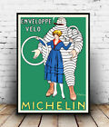 Michelin enveloppe velo Tyre : Vintage , poster, Wall art, poster, reproduction.