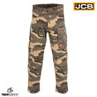 JCB Camo Camouflage Cargo Combat Multi Pocket Heavy Duty Work Trousers Pants